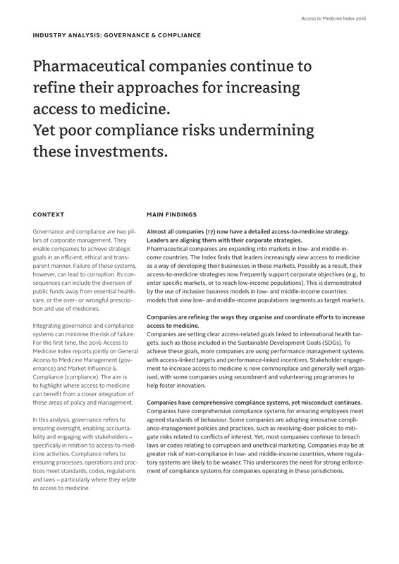 Pharmaceutical Companies Continue To Refine Their Approaches For Increasing Access To Medicine. Yet Poor Compliance Risks Undermining These Investments.