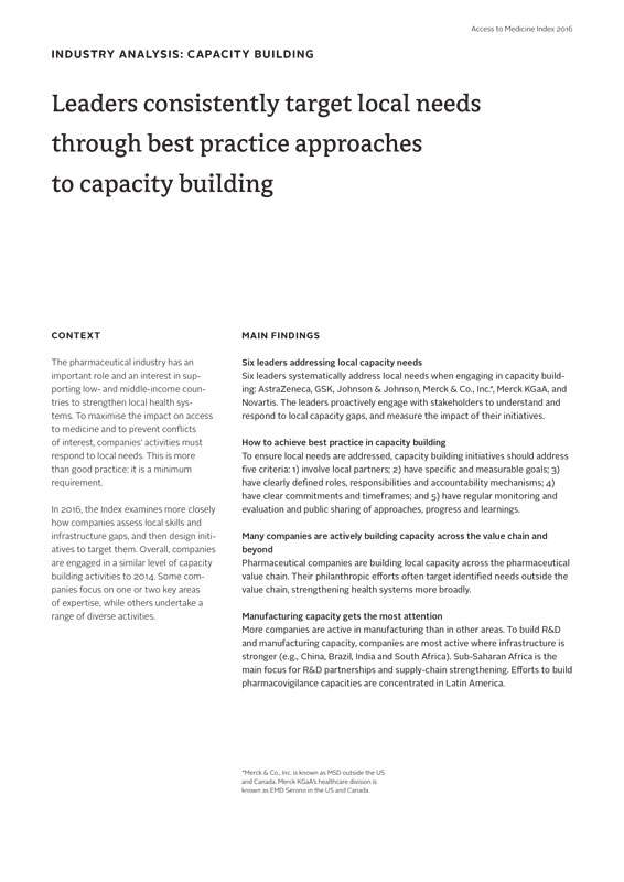Leaders Consistently Target Local Needs  Through Best Practice Approaches To Capacity Building